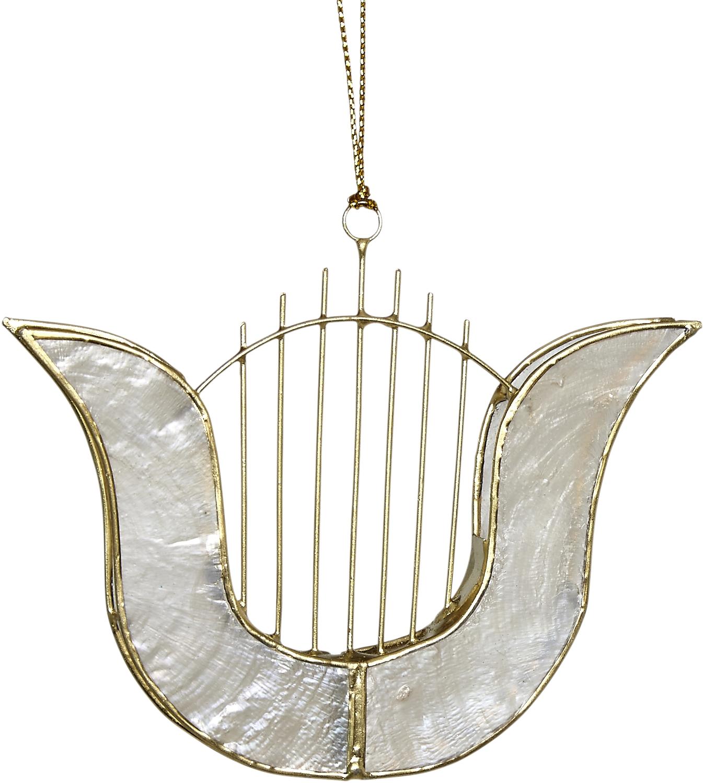 ''Capiz Harps 3.5'''' Christmas, Coastal Beach Home HOLIDAY Party Decoration''